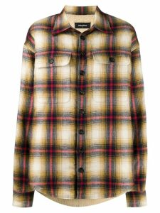 Dsquared2 oversized shirt jacket - Brown