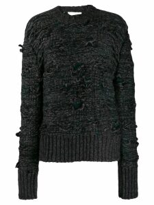 Mm6 Maison Margiela distressed detail sweater - Black