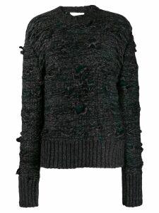 Mm6 Maison Margiela distressed detail sweater - Black