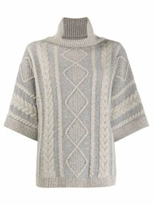Fabiana Filippi cable knit jumper - Grey