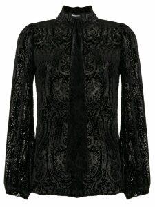 Paule Ka devoré paisley blouse - Black