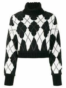 Philosophy Di Lorenzo Serafini geometric roll-neck sweater - Black