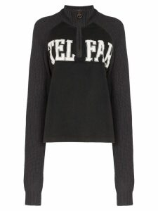 Telfar logo half-zip knit sweatshirt - Black