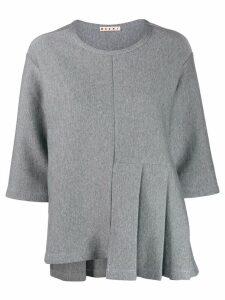 Marni boxy jersey T-shirt - Grey