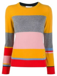 Tory Burch striped knit sweater - Yellow