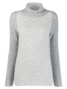 Fabiana Filippi sequin embellished jumper - Grey