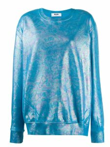 MSGM holographic effect sweatshirt - Blue