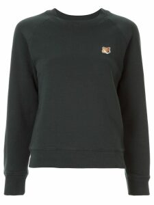 Maison Kitsuné slim-fit logo patch sweatshirt - Green