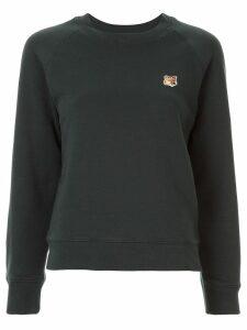 Maison Kitsuné slim-fit logo patch sweatshirt - Green