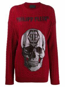 Philipp Plein skull pullover - Red