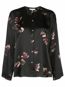 Vince floral silk blouse - Black