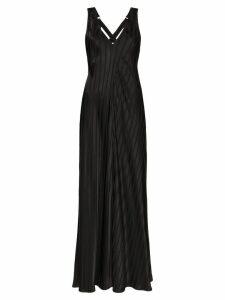 Lee Mathews striped jacquard maxi dress - Black