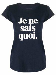 Zadig & Voltaire slogan print T-shirt - Blue