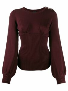 Pinko structure panelled jumper - Red