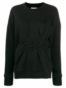 Nina Ricci ruched logo sweatshirt - Black
