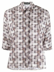 Styland ant print shirt - Neutrals