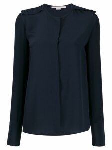 Stella McCartney epaulette long-sleeve blouse - Blue