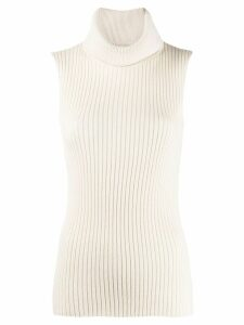 Edward Achour Paris sleeveless knitted jumper - White