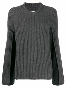 Maison Margiela two-toned ribbed jumper - Grey
