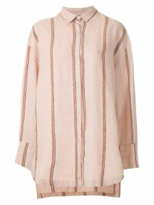 Osklen striped oversized shirt - PINK
