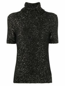 Dolce & Gabbana short sleeve glitter jumper - Black
