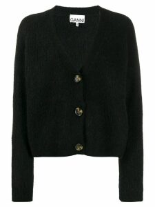 GANNI v-neck cardigan - Black