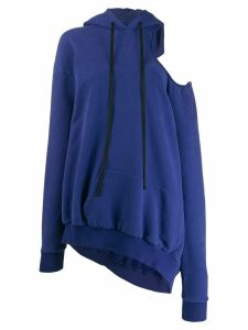Unravel Project cold-shoulder hoodie - Blue