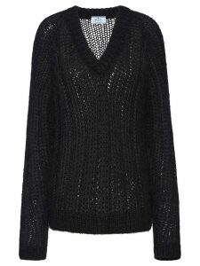 Prada open knit jumper - Black