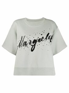 Mm6 Maison Margiela graphic logo print T-shirt - Blue