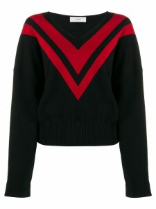 Pringle of Scotland chevron print jumper - Black