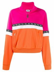 Fila colour-block design jumper - Pink