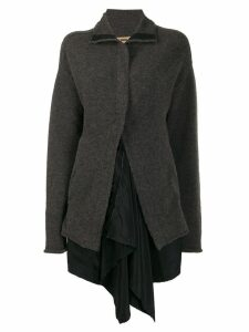 Uma Wang high-low hem cardigan - Grey