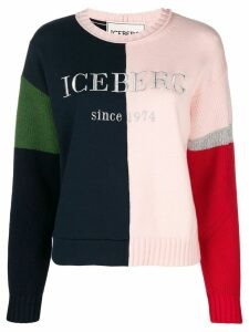 Iceberg colour blocked logo jumper - PURPLE