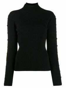 Edward Achour Paris button detail jumper - Black