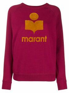 Isabel Marant Étoile logo print sweatshirt - Pink