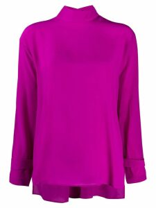 Jejia mock neck blouse - PURPLE