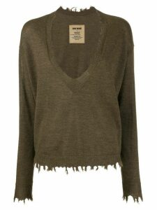 Uma Wang U-neck jumper - Brown