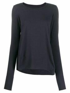Rundholz Black Label curved hem jersey top - Blue