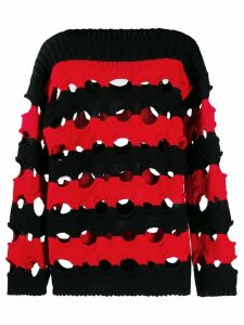 Philosophy Di Lorenzo Serafini striped ribbed jumper - Black