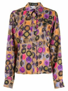 Styland geometric print shirt - Brown