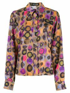 Styland geometric print shirt - Brown