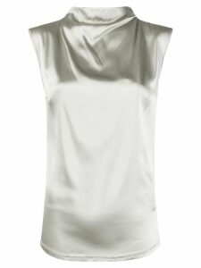 Styland draped tank top - SILVER