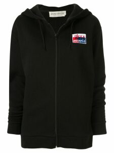 Être Cécile Animals embroidered hoodie - Black