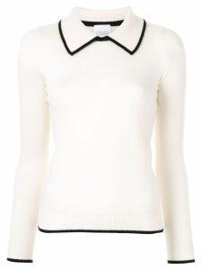 Madeleine Thompson Jumbo contrast piping jumper - White