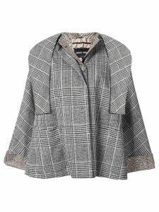 Giorgio Armani checked cape jacket - Black