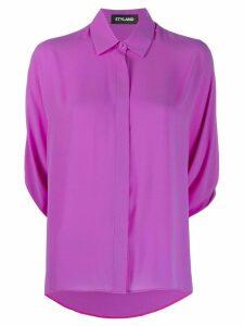 Styland three-quarter sleeve shirt - PURPLE