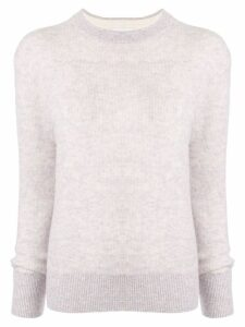 CK Calvin Klein crew-neck knit sweater - PURPLE