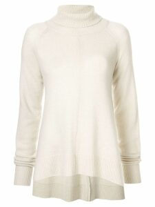 Goen.J draped knit jumper - White