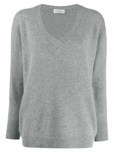 Zanone v-neck plain jumper - Grey