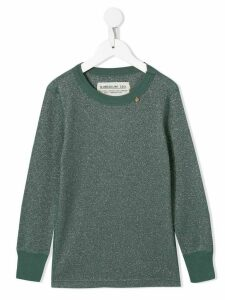 Go To Hollywood melange charm embellished sweatshirt - Green